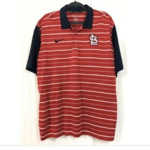 Nike St. Louis Cardinals Polo Shirt Dri-Fit XL S/S